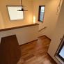 筑紫野市 工務店の木の家 2階ホールに書斎コーナー設置