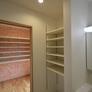 洗面脱衣室(豊富な収納棚)福津市注文住宅
