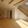 福岡市西区注文住宅・オープン階段の開放的なLDK