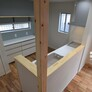 福岡市・キッチンの収納計画(オープンな棚と兼用する例)