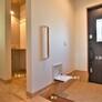 玄関手洗い・折りたたみ椅子・敷台付き玄関・福岡市工務店